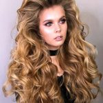 A deep-wave hair unit that dries with a nice curly texture.