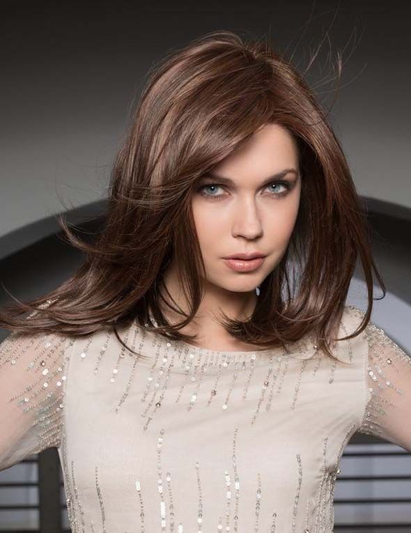 A glamorous long hairstyle with light and light layers.