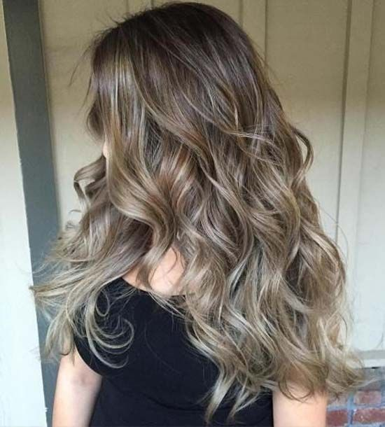 Blonde ash, Balayage hair that will faint