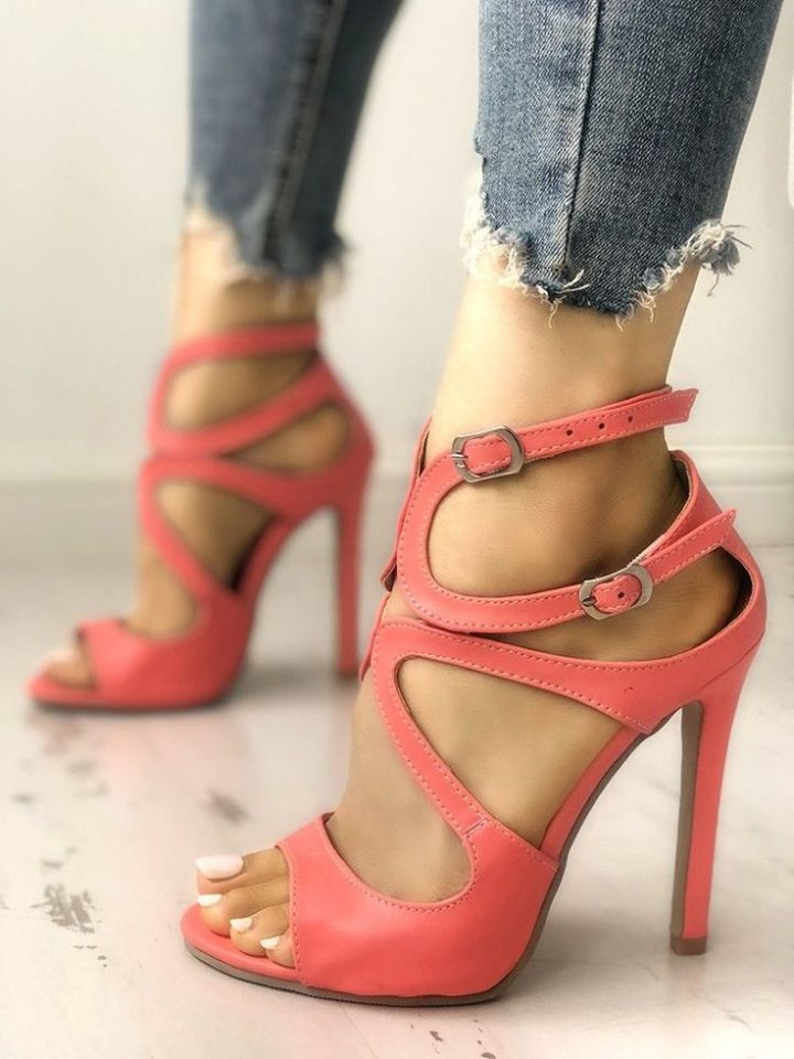 Buy sandals with style, solid cut, straps, high-heeled sandals #JimmyChooHeels