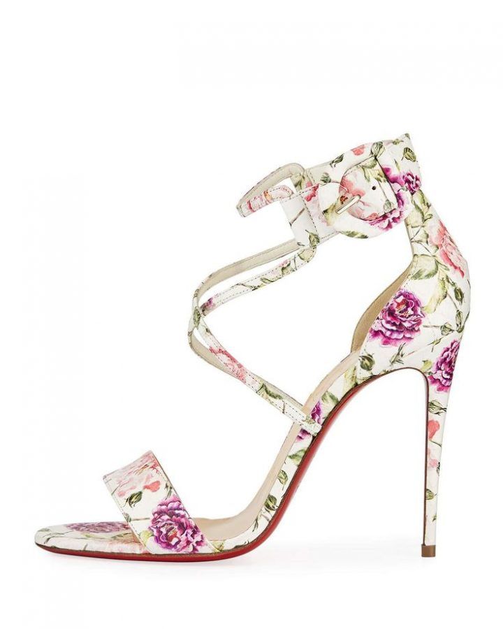 Christian Louboutin Crashes floral snake red sole sandal