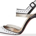 Christian Louboutin & # 39; Chouette & # 39; Red sole pump with pink edge, White