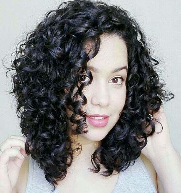 Curly dark hair short and natural. In layers for the volume. Natural curly hair inspiration