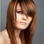 Dark red blunt haircuts for girls