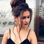 Glam top knot big messy casual bun until making hairstyles