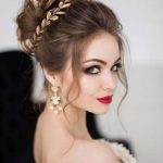 Ideas for the cute updo bridal hairstyle 2018