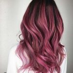 Ideas of black hair and berry ombre
