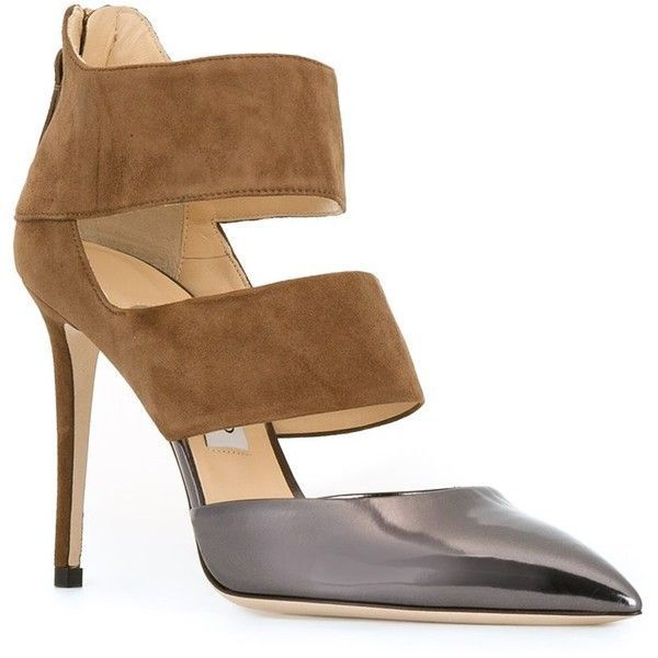 Jimmy Choo & # 39; Give me 100 & # 39; pump ($ 715) ❤ liked in Polyvore with shoes, pumps, leather toe pumps, leather pumps, toe stilettos, jimmy choo stilettos and high-heeled stilettos