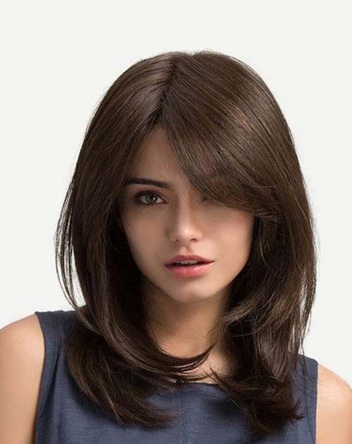The best collection of medium hair with bangs 2018,