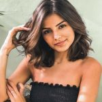 Wavy dark brown lob, steaming and shoulder-length; it's not your grandmother's bob hairstyle