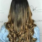 Beautiful blonde Balayage dark brown hair looks