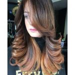 Brown hair color ash for natural brunettes of medium hair