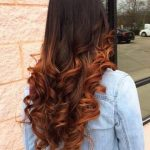 Brown hair with copper Balayage 2018-19
