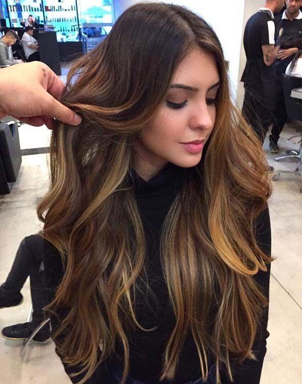 From dark hair to light brown Dark brown hair