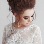 The inspiration of the wedding hairstyle