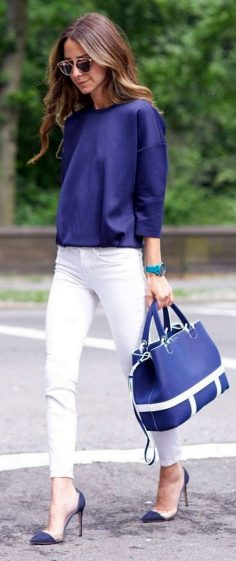 10 adorable white pants combine with your outfit to improve your look