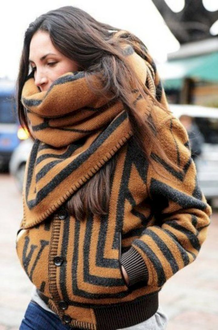41 fashionable ways to wear a blanket scarf