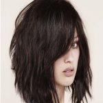 Bob ombre medium hairstyle with bangs