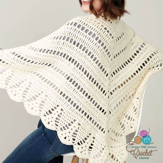 Crochet Prayer Shawl + Tutorial