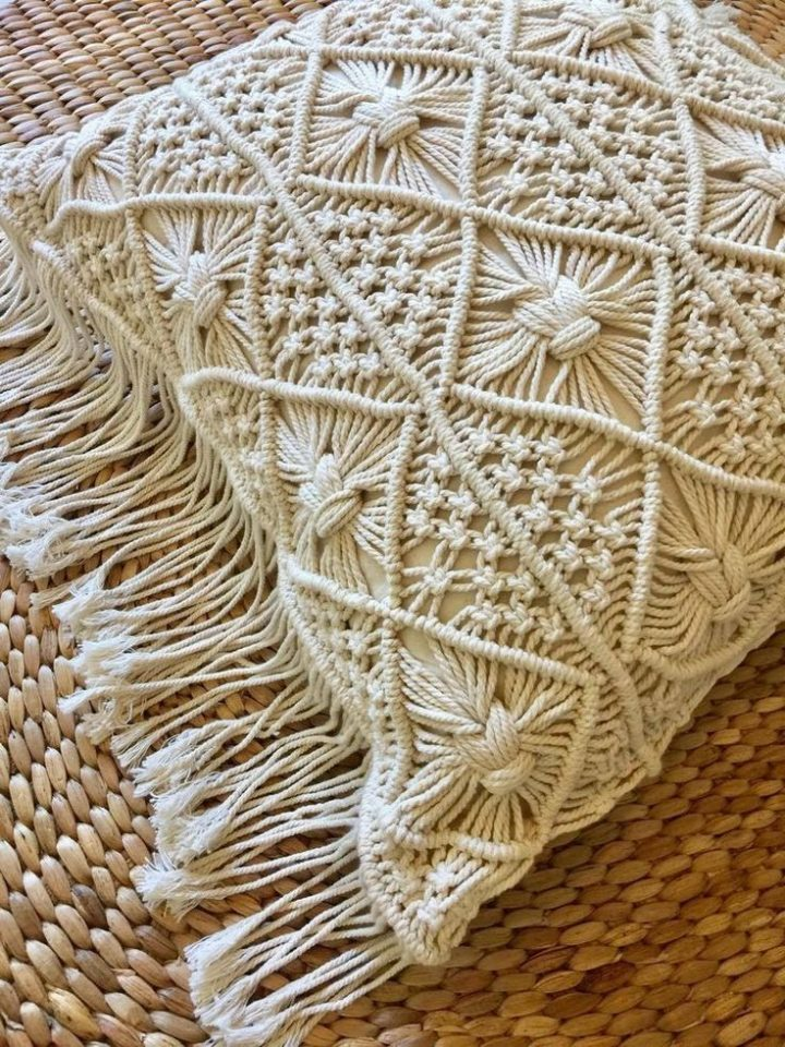 INTRICATELY WOVEN COTTON THREAD FORMS ITS STRIKING …