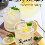 Whiskey lemonade made with homemade lemonade …