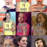 Lol classic joke. Maddie Zeigler, Mackenzie Ziegler, Brooke Hyland and Abby Lee Miller