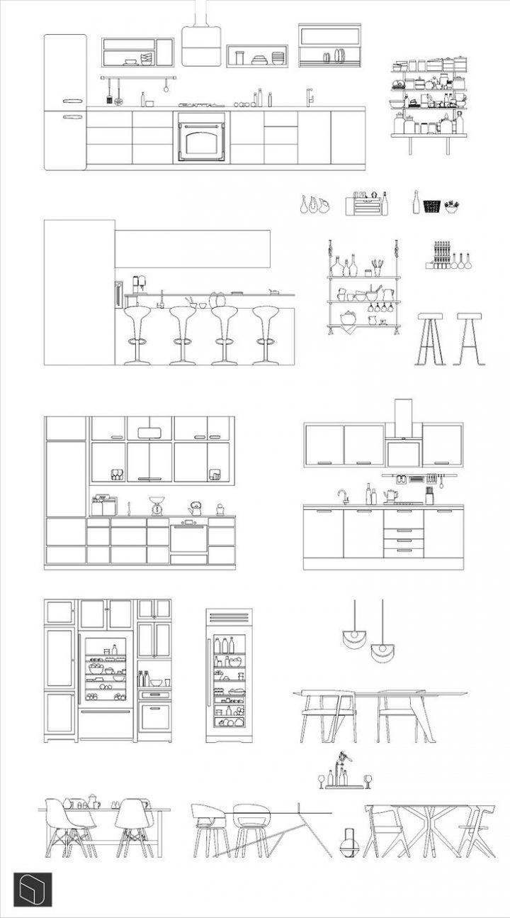 Modern kitchen Dwg