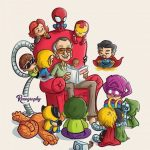 """RENATO BARRANTES ON INSTAGRAM: """"KEEP TELLING SUCH GOOD STORIES. THANKS, STAN LEE. 💛 BASED ON AN ILLUSTRATION OF THE GREAT @SKOTTIEYOUNG âœ� âž¡ SLIDING THE IMAGE … """""""