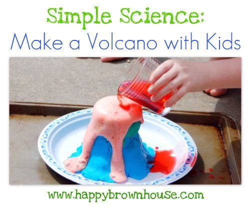 SIMPLE SCIENCE: HOW TO MAKE A VOLCANO WITH CHILDREN