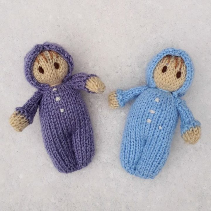Snow baby dolls- Easy doll weaving pattern by Claire Fairall Designs