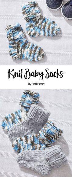 Knitted baby socks Free knitted pattern Baby Hugs medium | Knitting Patterns