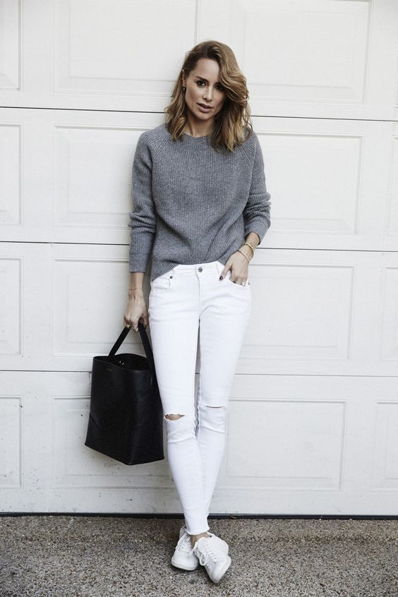 10 perfect outfits to wear with white jeans