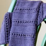 Cool knit scarf – good beginner pattern too, so my sisters say