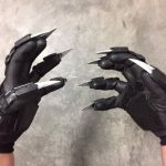 MARVEL BLACK PANTHER GLOVES COSPLAY COSTUME ACCESSORIES PRINTED IN 3D