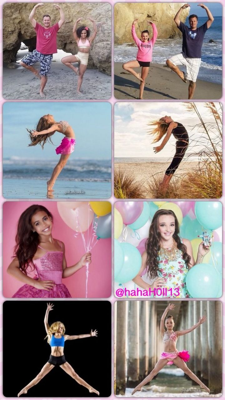 Dance Moms girls and their similar photo shoots