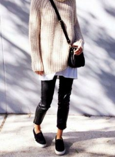 44 ways to dress your oversized sweater with pants