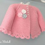 Knitted Pattern Baby Jacket Baby Knitwear Jacket Point Knit Baby Newborn Girl Jacket Knitwear Knitwear Baby PATTERN