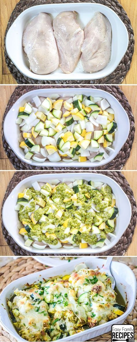 Baked Chicken And Zucchini – Easy Dinner Recipe