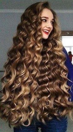 Beautiful long hair curls