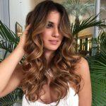 Curly Balayage hair light brown