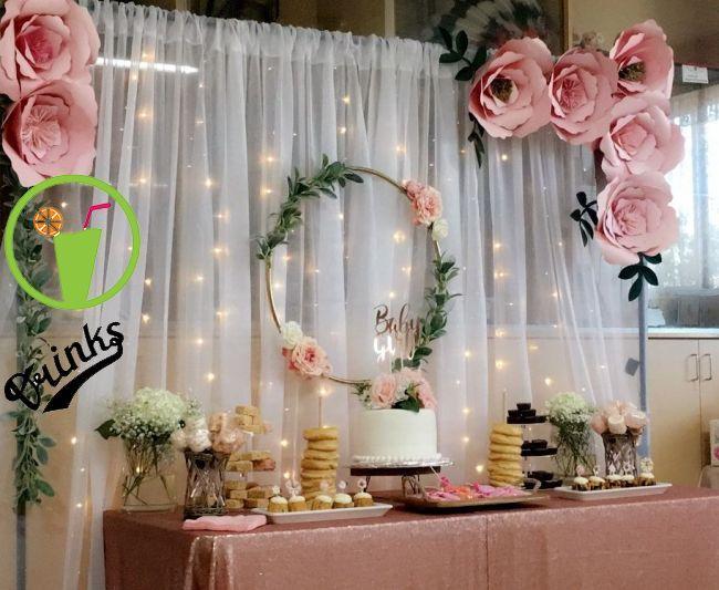 Dessert table baby shower | Catalina's birthday in 2