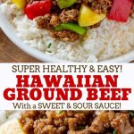 Ground Hawaiian beef made with lean ground beef, peppers, onions and pineapple in a sweet and tasty sauce, made in less than 30 minutes