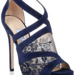 Jimmy Choo Vantage Navy Blue Lace Sandal