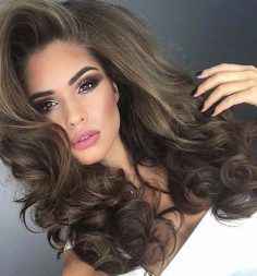 Long Curly Human Hair Front Lace Style
