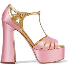 Miu Miu sandals touch two seasonal trends: pl …