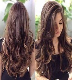 Motivation of long hair for fashion girls.