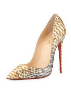 S09Z7 Christian Louboutin So Kate Python Red Sole …