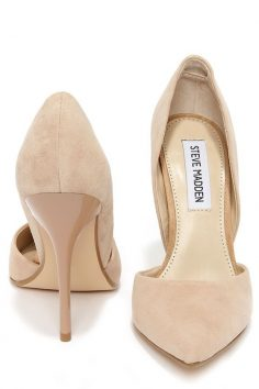 Steve Madden Varcityy Blush Suede Leather D & # 39; Orsay …