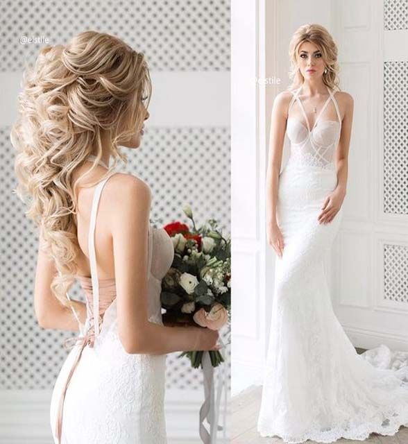 The best wedding hairstyles for brides that are half up or half.