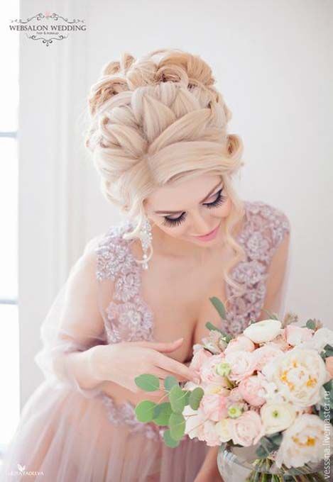 The inspiration of the 2018 wedding hairstyle